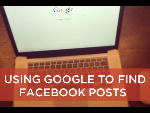 How to use Google to search Facebook posts - video