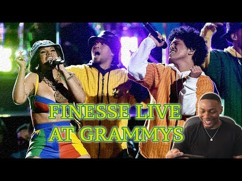 BRUNO MARS & CARDI B-FINESSE (LIVE from the 60th GRAMMYS) Reaction