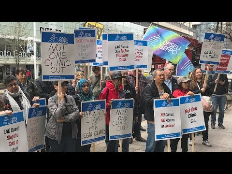 OPSEU joins Legal Aid Ontario protest