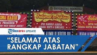 Universitas Indonesia Dibanjiri Karangan Bunga Untuk Rektor Ari Kuncoro, Berisi Sindiran