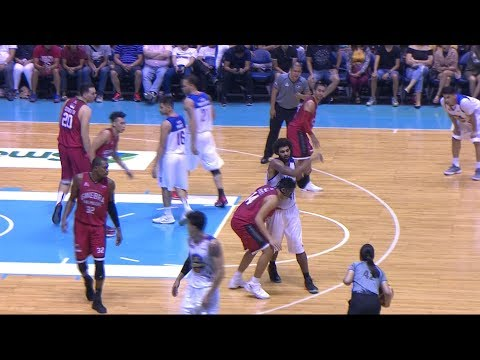 Heated action between Glen Rice Jr. and Kevin Ferrer! | PBA Governor's Cup 2017