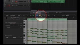 管理 Piano Roll 顯示的內容 - Link Mode
