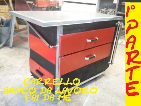 CARRELLO E BANCO DA LAVORO riciclato 1