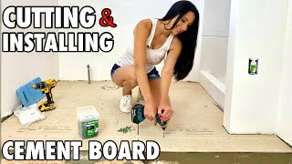 Cutting and Installing Cement Board