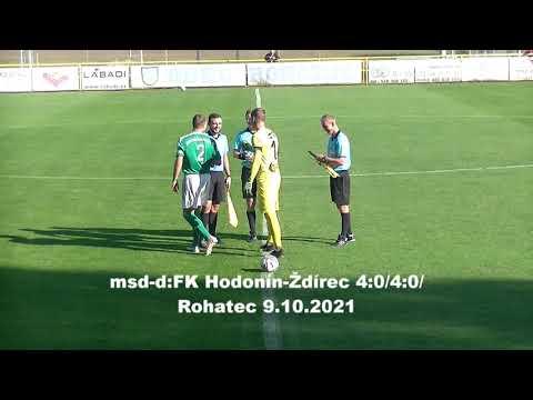 muži: FK Hodonín - Ždírec 4:0