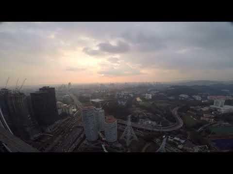 Timelapse of Bangsar City during sunset