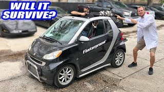 We TWIN Electric Turbo The Smart Car. It's A Freaking RIPPER Now!