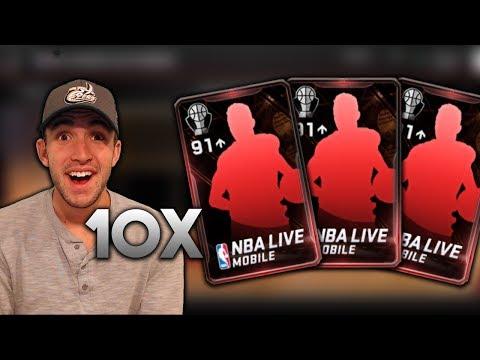 OPENING 10 91+ NBA AWARD ELITES - 2 94+ PULLS!! NEW 99 LEBRON!! NBA Live Mobile