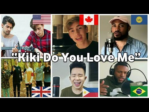 "Who Sang it Better | ""KIKI DO YOU LOVE ME"" (Canada,USA,UK,Philippines,Brazil,Atlanta)#Inmyfeelings"