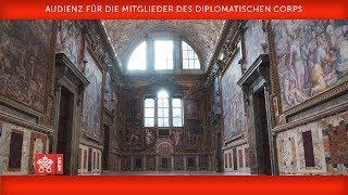 Papst Franziskus Audienz für die Mitglieder des Diplomatischen Corps 2019-01-07