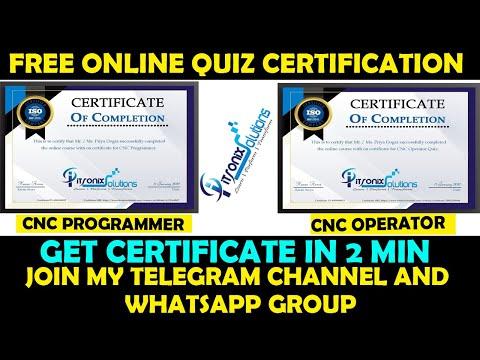 CNC Programmer Free Quiz   CNC Programming Online Certification