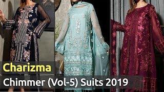Latest CHARIZMA CHIMMER (VOL-5) Pakistani Chiffon Dresses 2019   Designer Chiffon Dress