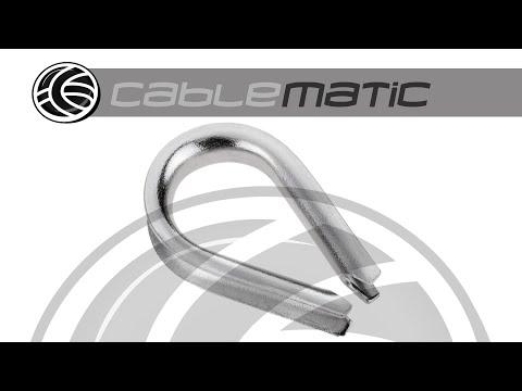 Guardacables para cable de acero inoxidable - distribuido por CABLEMATIC ®