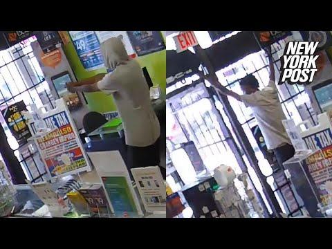 Ovelat myyjät lukitsevat ryöstäjän sisälle liikkeeseen
