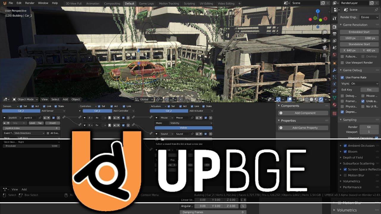 UPBGE -- Blender Game Engine Lives!!!