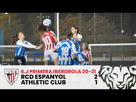 ⚽ RESUMEN I RCD Espanyol 2-1 Athletic Club I J6 Primera Iberdrola 2020-21 I Laburpena