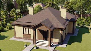 Проект дома 126-B, Площадь дома: 126 м2, Размер дома:  12,6x13,5 м