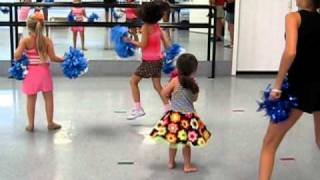 Shake Your Tail Feather pom dance