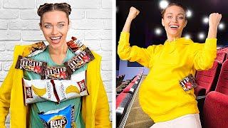 Sneaking Food || 25 Crazy Life Hacks