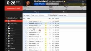 5 Minute - Yahoo Fantasy Football League Draft Tutorial