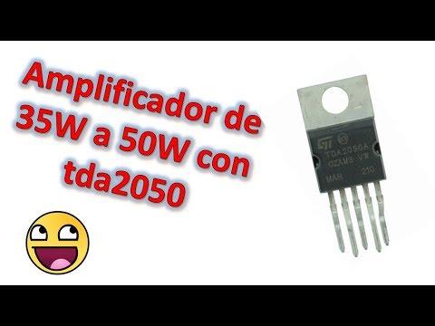 Amplificador estéreo de 35W a 50W con tda2050. Muy Fácil !!