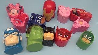 Surprise Egg Opening Memory Game for Kids!  Avengers Batman Disney PJ Masks Peppa Pig! 2