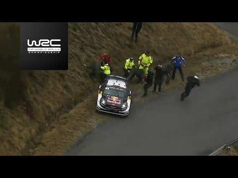 WRC - Rallye Monte-Carlo 2018: Ogier slipping into a ditch