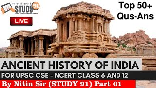 1.Ancient History Quiz NCERT Pattern for UPSC,PSC and all Exam by Nitin Sir