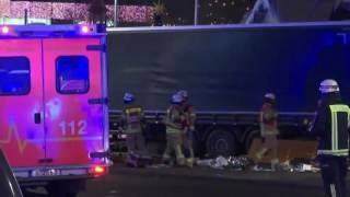 Video: Truck runs into crowded market in Berlin