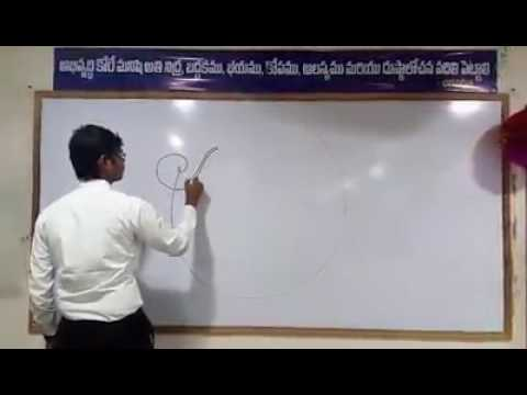 Vamsi the calligraphy from institute of apex guntur