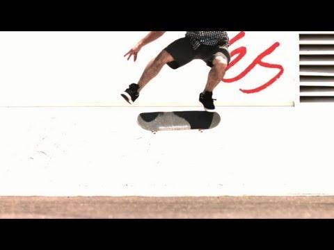 Kelly Hart 1000fps slow motion kickflip