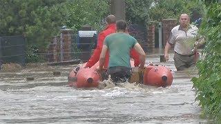 Dramatisches Hochwasser