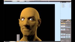 Creating a Realistic Head in Blender - part 04