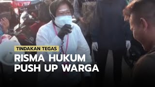 Tindakan Tegas Risma Hukum Push Up Warga Surabaya yang Tidak Memakai Masker saat Berkerumun