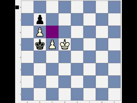 Chess endgame lesson: Using Triangulation in King and Pawn endings