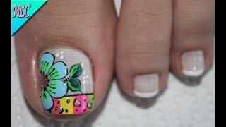 Nailslucerocordoba Diseño De Uñas Para Pies Flor Y