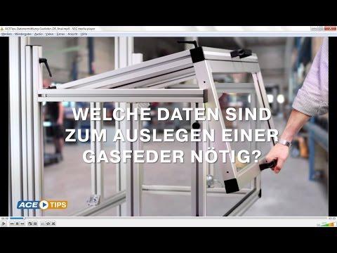 ACETips – Welche Daten sind zum Auslegen einer Gasfeder nötig?