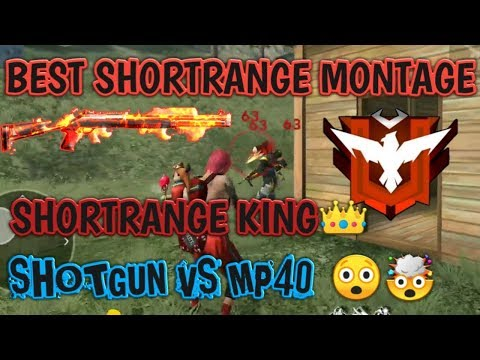 BEST OF SHORTRANGE!!  SHOTGUN VS MP40 INSANE MONTAGE !!!   #SHOTRANGE_KING -- TaHir