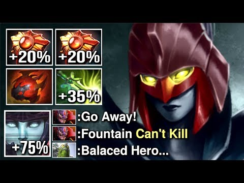 WTF CANCER 99% Miss Chance Even Fountain Can't Kill Him Craziest Phantom Assassin Build Dota 2