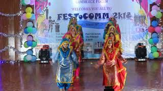 Commerce Festival Performance   Punjabi Folk Dance    Girls Performance    Trending Bhangra 2018