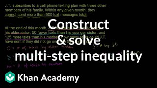 Writing and using inequalities 2
