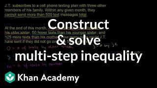 Writing and using inequalities 2