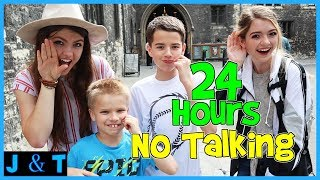 24 Hours No Talking Challenge  Jake And Ty