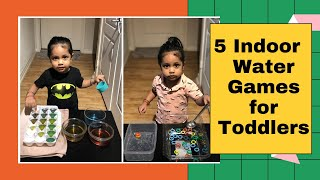 Indoor Water Games For Toddlers | Montessori Activities At Home  | Fun Based Learning