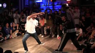 AKIHISA vs ICEE @ HIPHOP FOREVER JAPAN 2015 FINAL: 1st to 3rd round
