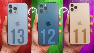 iPhone 13 Pro vs 12 Pro vs 11 Pro iOS 15 - Speed Test!