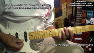 LET'S DANCE David Bowie Nile Rodgers Stevie Ray Vaughan Guitar Cover  Lesson Link EricBlackmonMusic