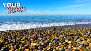 Gentle Sound of Sea, Sound of Waves For Sleep and Relaxation. 3 Hours of 4K Video