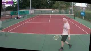 preview picture of video 'Christophe (15) vs Christophe (4/6) - 3e tour Mesnil St Denis - 1er set - 16/09/2012'