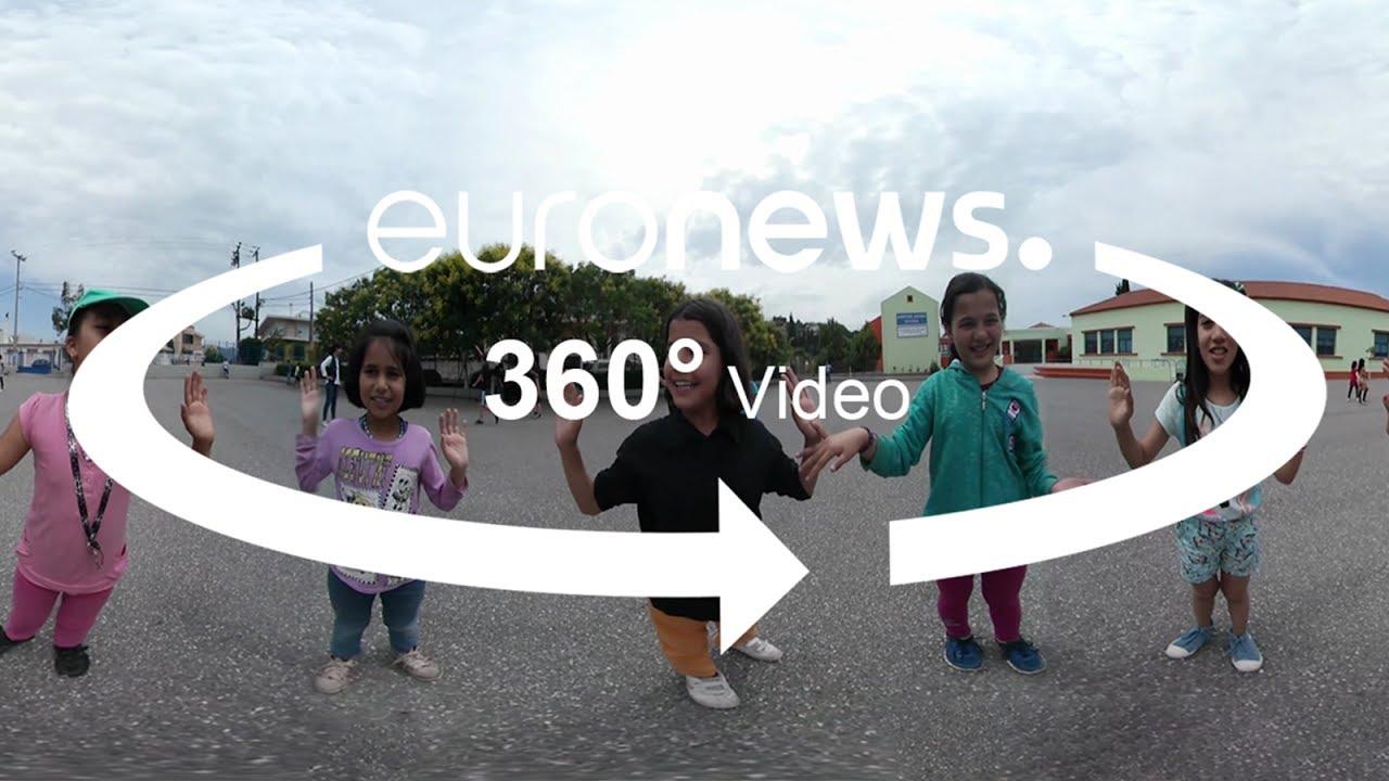 360 βίντεο: Από τους προσφυγικούς καταυλισμούς στις σχολικές αίθουσες του Αυλώνα